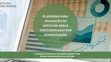 Planilha CETESB para avaliação de Risco a Saúde Humana em áreas contaminadas sob investigação