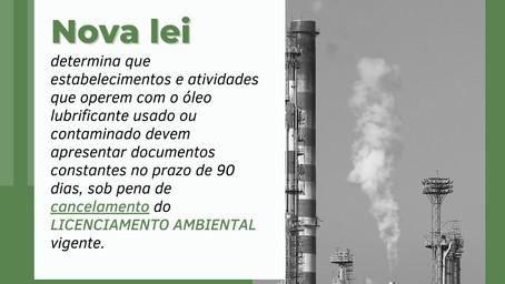 NOVA LEI sobre sobre gestão de óleos lubrificantes
