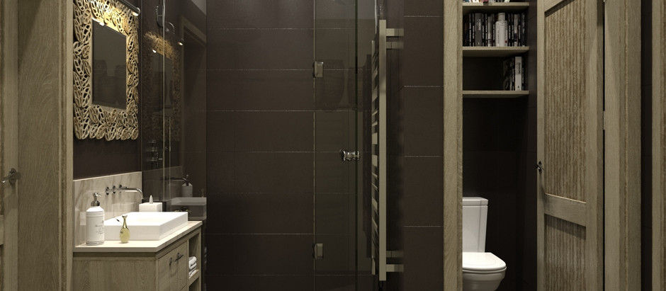 How to use lights to light up different areas in the bathroom