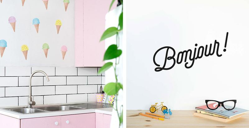 What's the distinction between Wall sticker and Wall decal? Which one should I opt for?