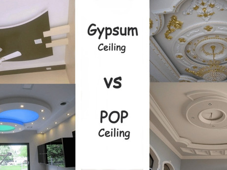 Why Choose Gypsum False Ceiling Over POP?