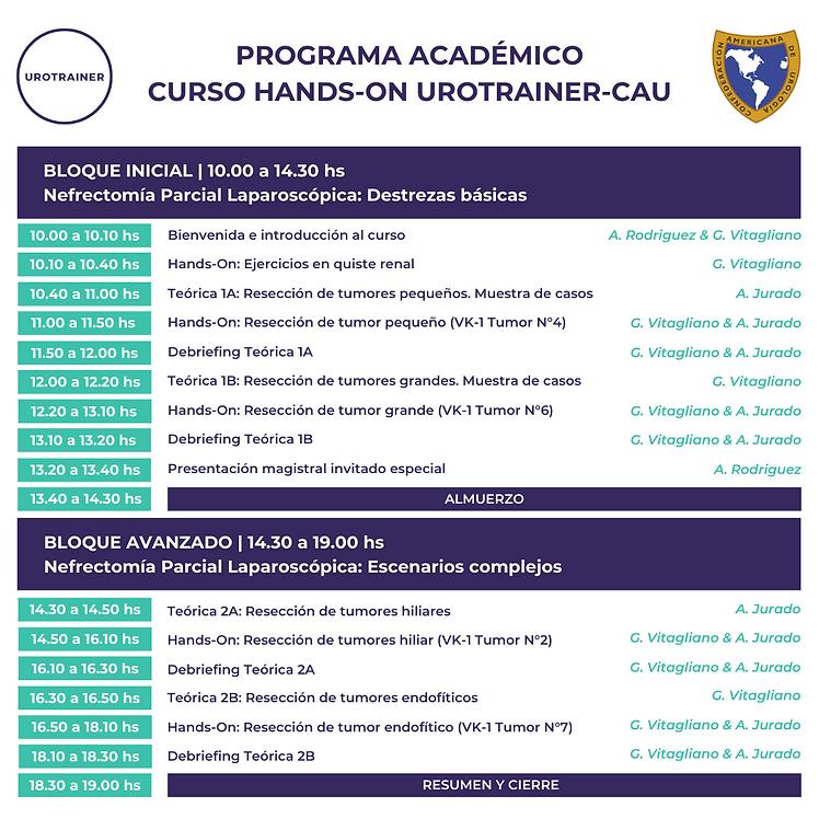 Programa Curso Hands-On UROTRAINER-CAU.p