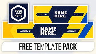 Abstract Ninja Revamp Pack - FREE Photoshop Template [Banner, Header & Logo]