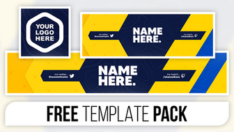 Abstract Ninja Revamp Pack - FREE Photoshop Template [Banner, Header & Logo]
