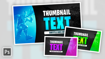 Call of Duty & Fortnite Gaming Thumbnail - FREE Photoshop Template