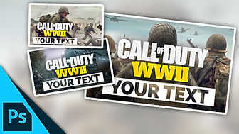 Call of Duty: WW2 Thumbnail Template Pack   Free Photoshop Template [YouTube]