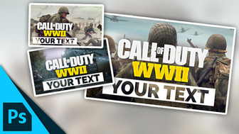 Call of Duty: WW2 Thumbnail Template Pack | Free Photoshop Template [YouTube]