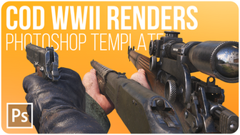 Call of Duty: WWII Render Pack Stocks | Free Photoshop Template [4K, All Weapons, PSD & PNG]