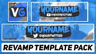 Free Photoshop Template   Gaming Revamp Pack (YouTube Banner, Twitter Header & Avatar)