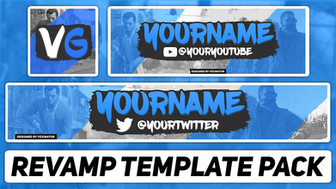 Free Photoshop Template | Gaming Revamp Pack (YouTube Banner, Twitter Header & Avatar)