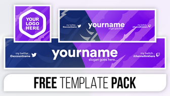 Clean Multicoloured eSports Revamp Pack - FREE Photoshop Template [Banner, Header & Logo]