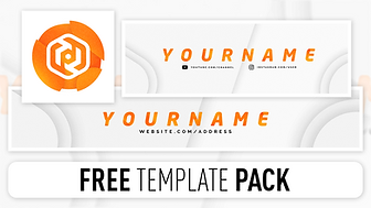 FREE Clean Style Revamp Pack - Photoshop Template [Banner, Header & Avatar]