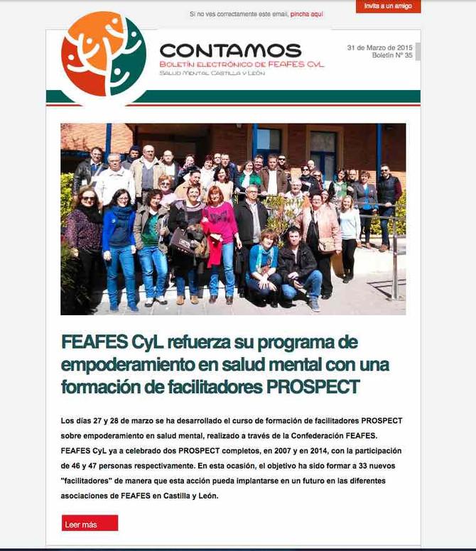 CONTAMOS. Boletín Electronico de Feafes Castilla Y león
