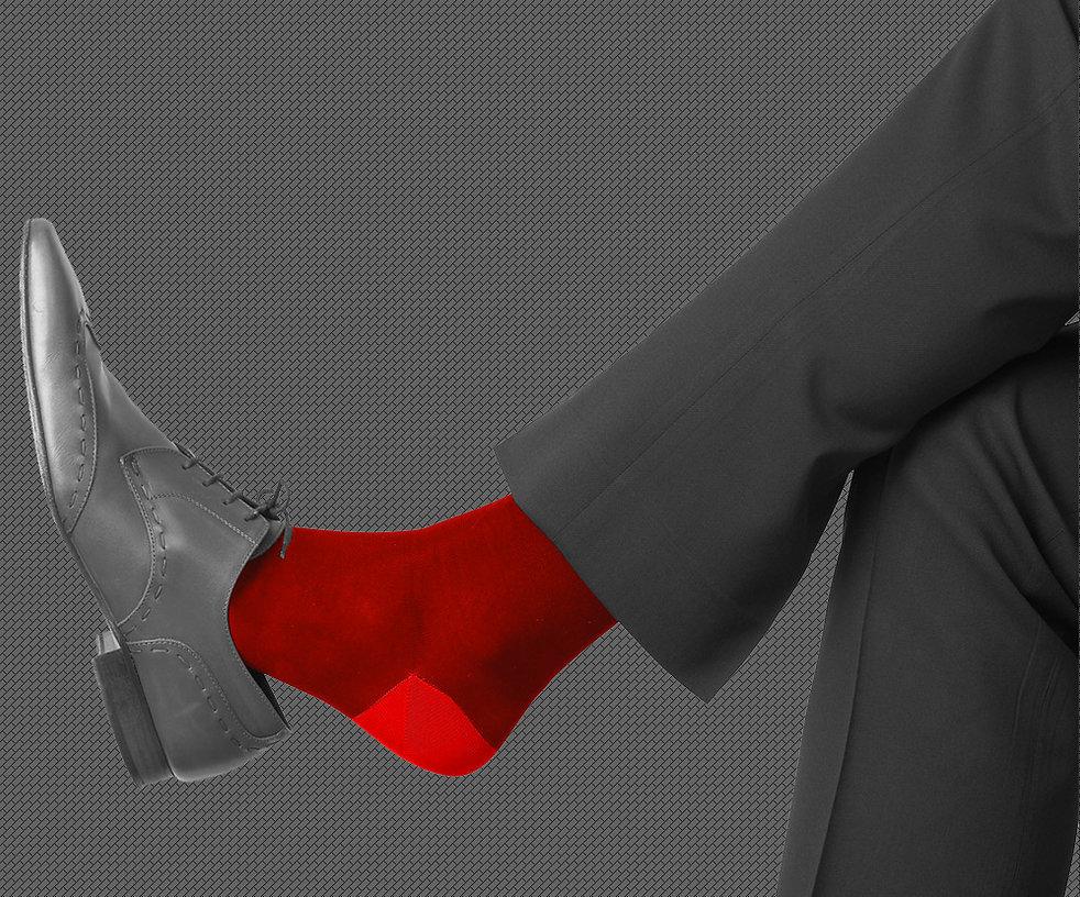 לנהל עם גרביים אדומים