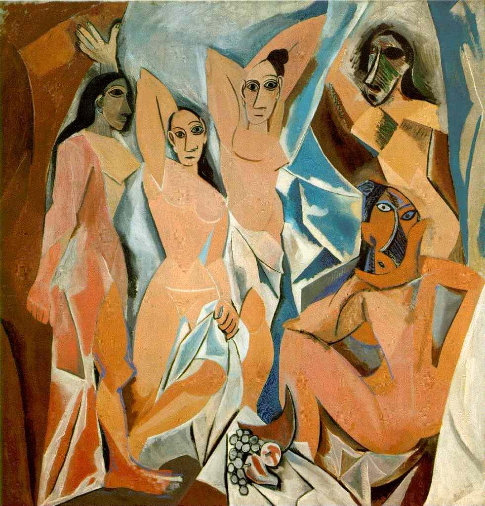 """Picasso: """"Les senyoretes d'Avinyó"""" (1907) [Oli sobre tela]"""