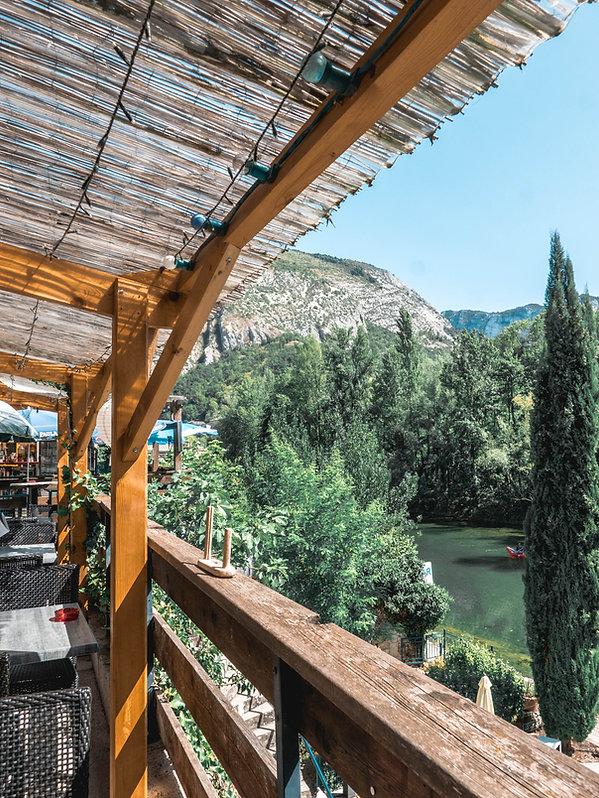Terrasse pont en royans