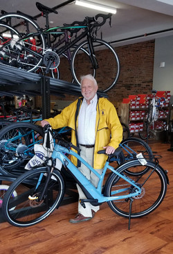 CHARLIE with his New eBike
