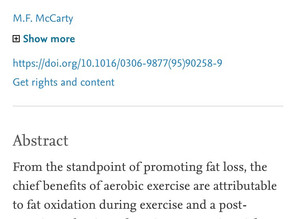 Optimizing exercise for fat loss.