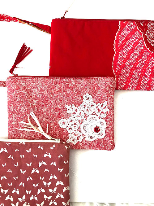Clutch Bags, hand-made from vintage Japanese Kimono Fabrics