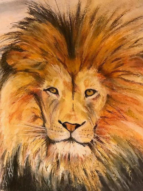 ART PRINT - 'LION'  fine art print by contemporary artist Hilary Payne