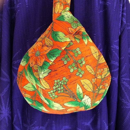 JAPANESE KNOT BAG - hand-made from vintage Japanese Kimono fabric, p&p inc