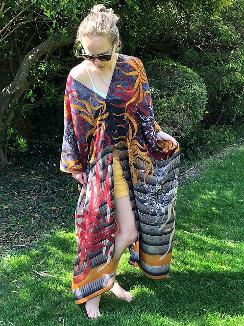 AMELIA KAFTAN 'SAMUDR', A29, vintage Indian silk crepe, unique loose-fit