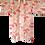 Thumbnail: MIKO, vintage Japanese Kimono Juban, superfine wool in cream with bright orange