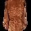 Thumbnail: JAPANESE LANDSCAPE Kimono Haori jacket in brown silk with scenery design