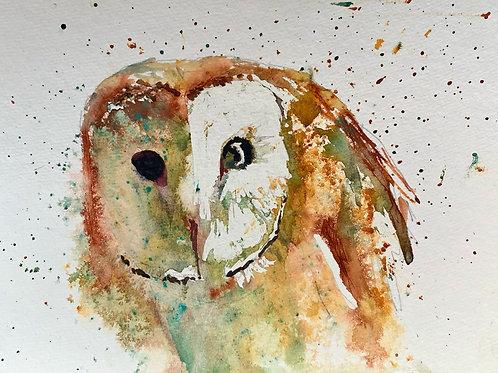 ART PRINT - 'OWL'  fine art print by contemporary artist Hilary Payne