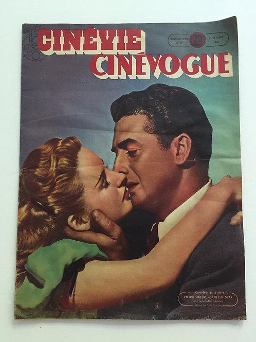 CINÉVIE CINÉVOGUE magazine, No. 21, 12 Octobre 1948, Vintage French Film Mag