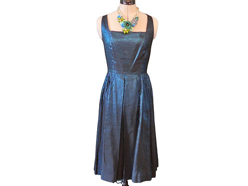 Vintage Cocktail Dress 1950s style with full skirt and square neckline