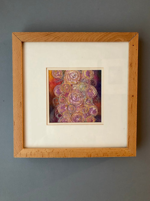 EMBROIDERED TEXTILE ARTWORK, framed