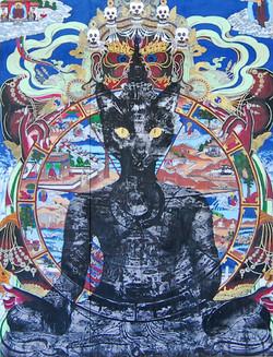 Buddha Cat Mural