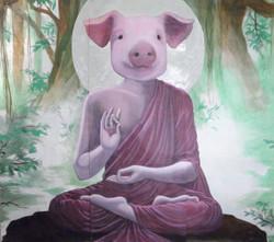 Buddha Pig Mural