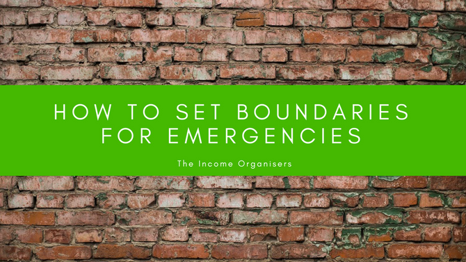 How to set boundaries for Emergencies