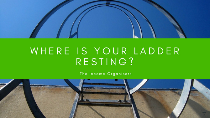 Where is your ladder resting?