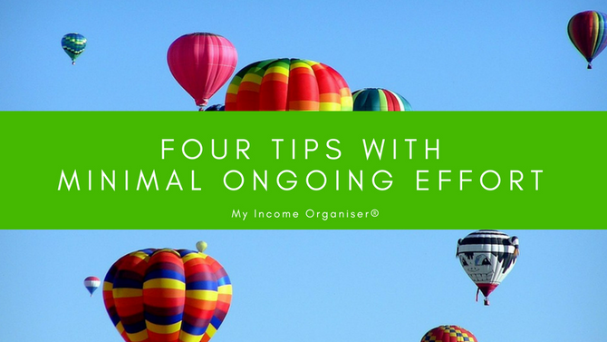 Four things you can do right now with minimal ongoing effort