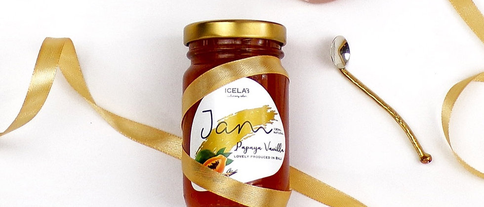 Papaya Vanilla jam, 100% natural, artisanal