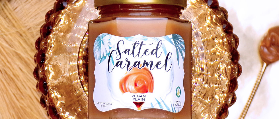 Plant-based Salted caramel spread, 100% natural, artisanal