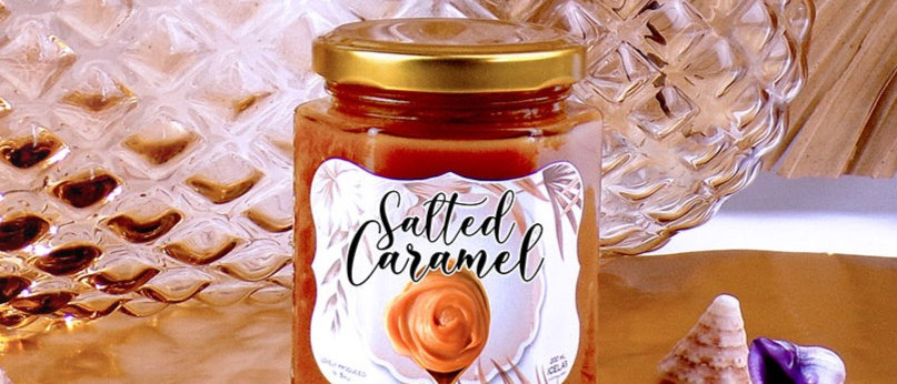 Salted caramel spread, 100% natural, artisanal