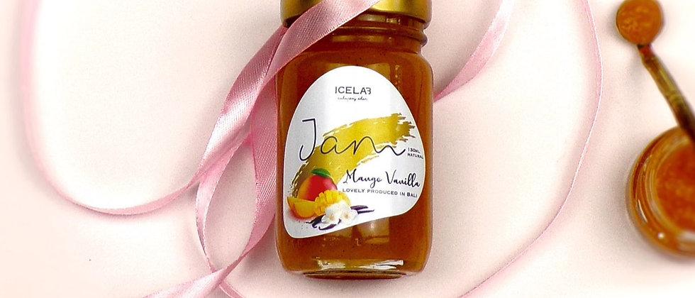 Mango Vanilla jam, 100% natural, artisanal