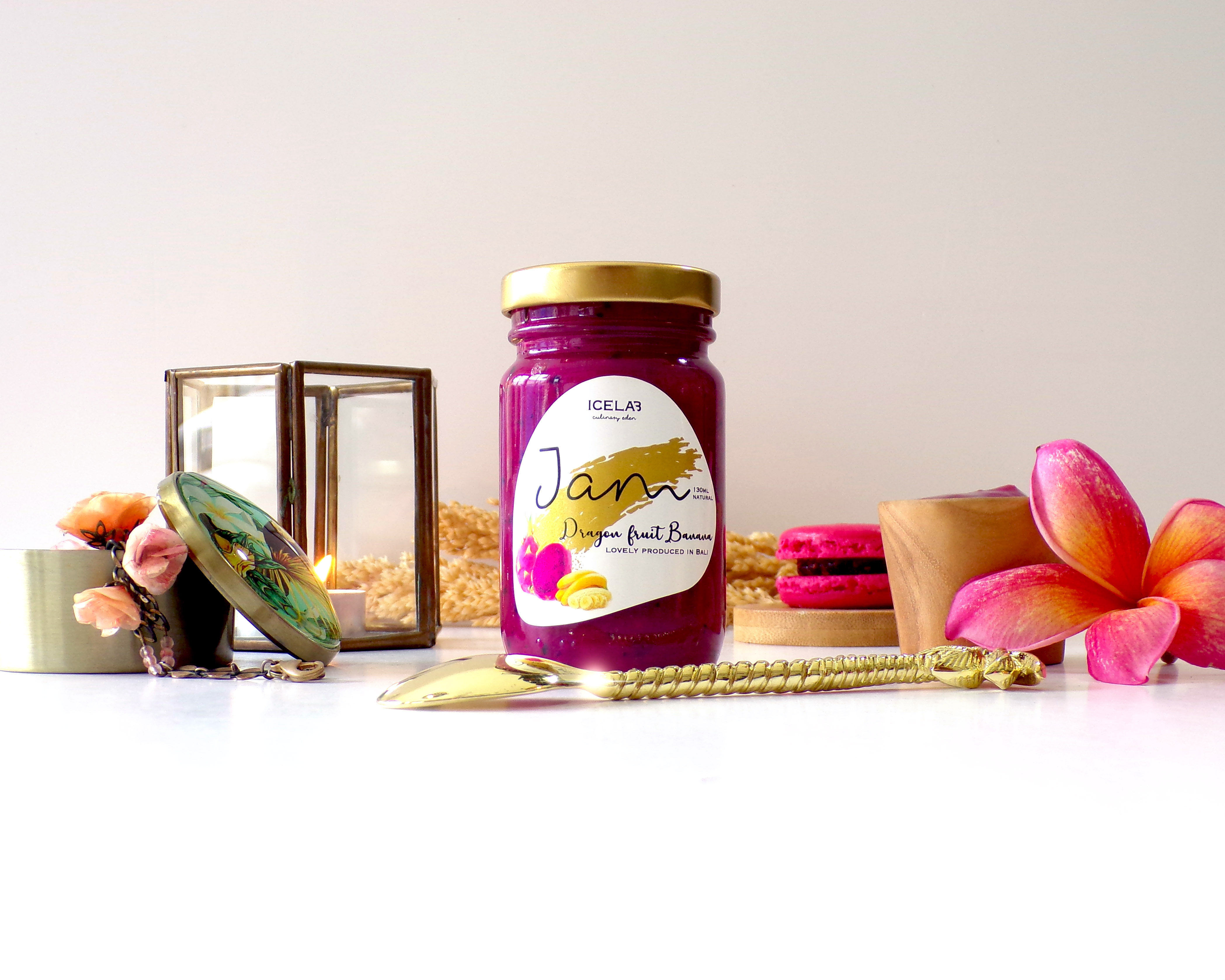 Dragon Fruit Banana Jam 1