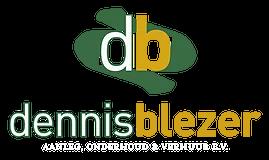 Dennis Blezer logo wit