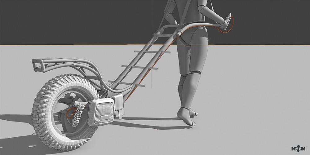 KIN – Mycocene | Early trekking cart 3D model