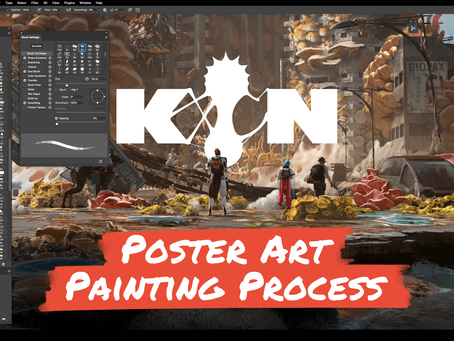 Poster Art Painting Process