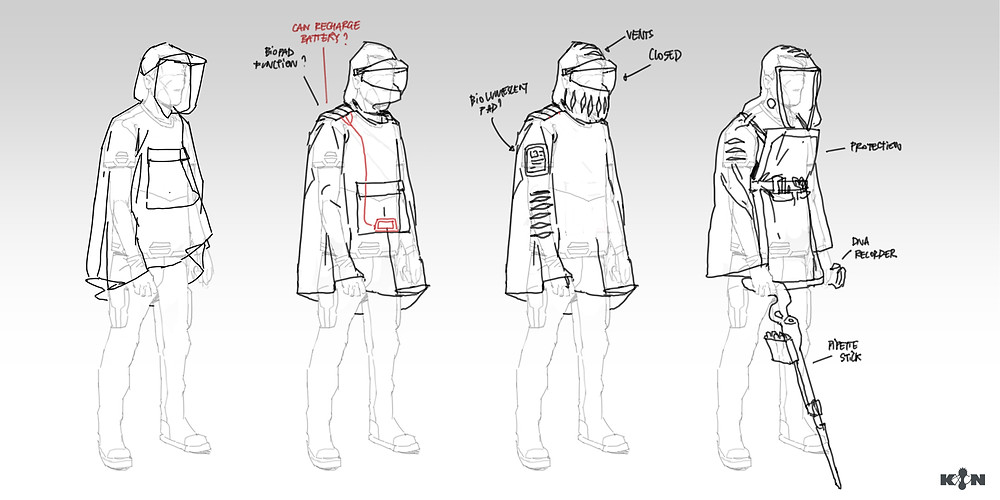 KIN – Mycocene | Poncho sketches