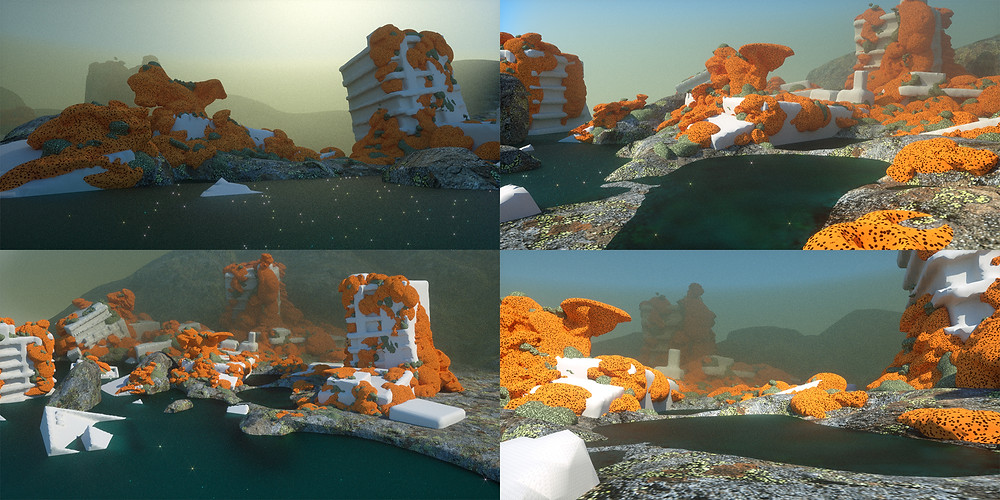 KIN – Mycocene | 3D scene created in VR using Medium and rendered with Octane