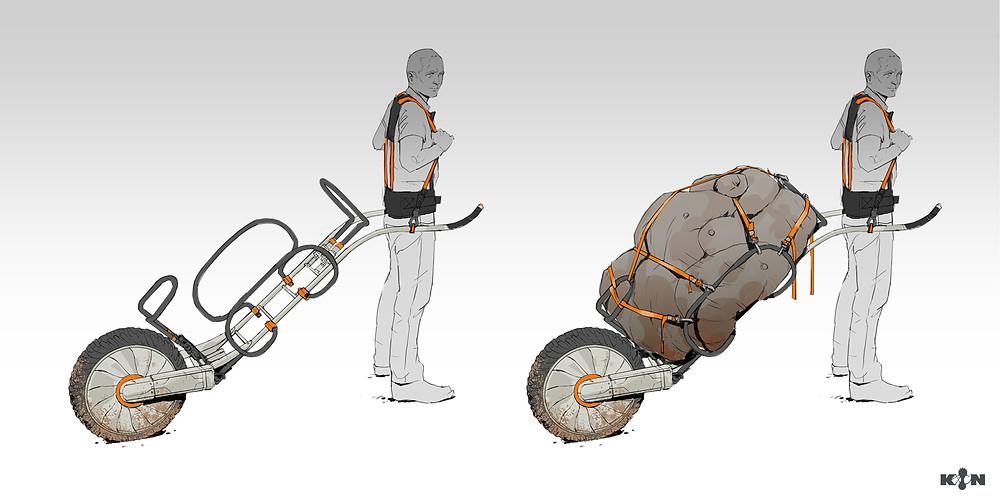 KIN – Mycocene | Trekking cart final concept