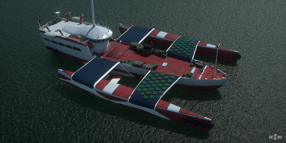 KIN – Mycocene | Shuttle boat render