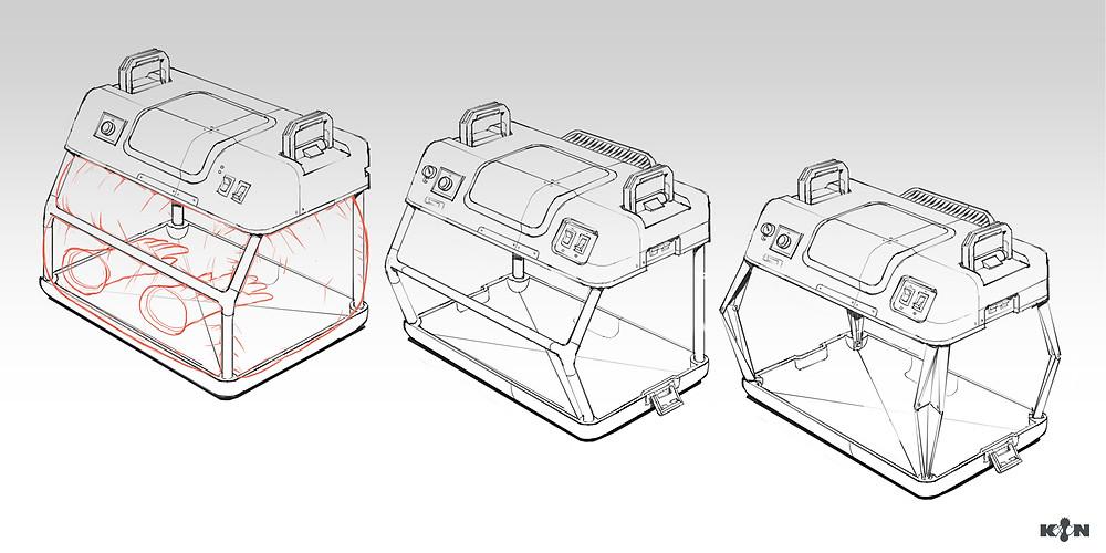 KIN – Mycocene | Clean bench sketches